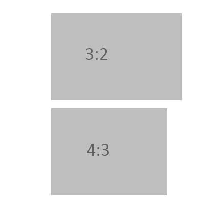 Comparativa de un sensor de proporciones 3:2 con otro de proporciones 4:3
