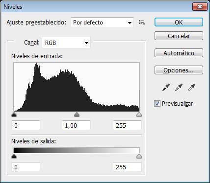 La herramienta Niveles de Adobe Photoshop se apoya en el histograma para ajustar los niveles de brillo de una imagen