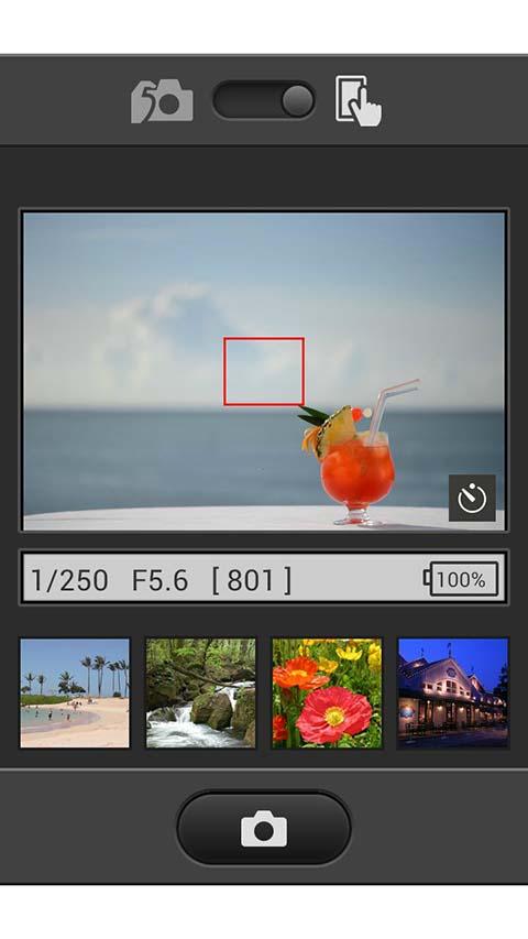 La conexión Wi-Fi permite manejar la cámara desde el teléfono móvil