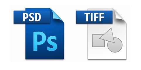 Es muy habitual utilizar los formatos PSD y TIF durante el proceso de edición de imágenes