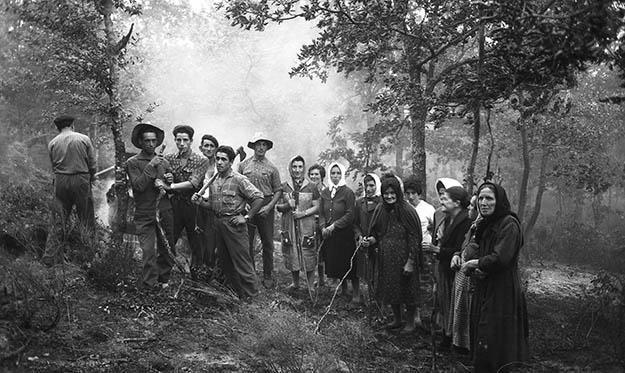 Piedad Isla. A Huebra limpiando el monte, 1962 © Fundación Piedad Isla & Juan Torres