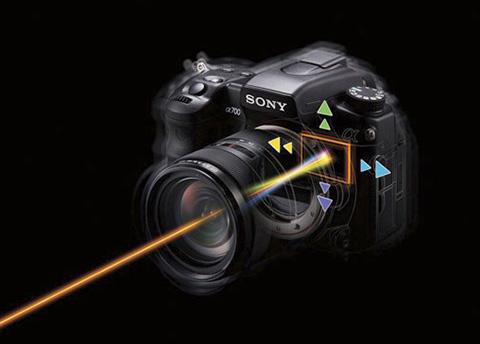 """Imagen ilustrativa del sistema de estabilización de imagen mecánico """"steadyshot"""" de Sony"""