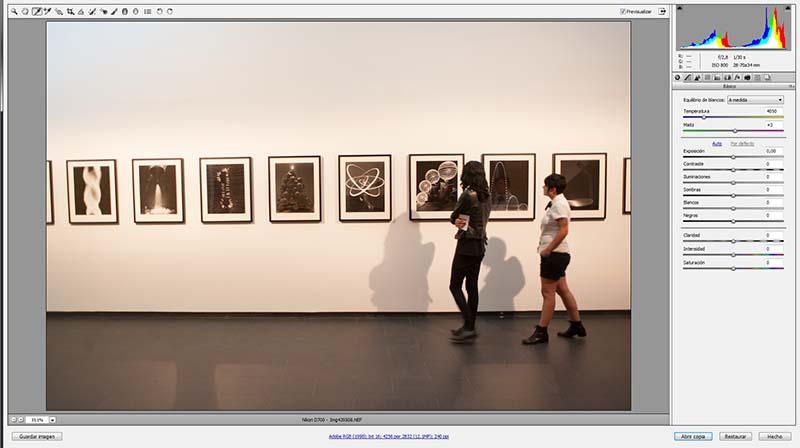 Ajuste del balance de blancos durante el revelado con Adobe Camera RAW