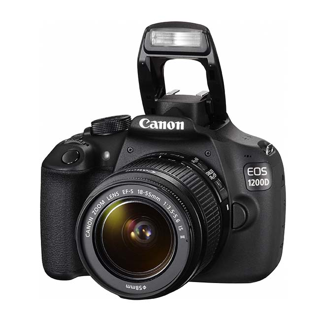 Canon EOS 1200D con el flash desplegado