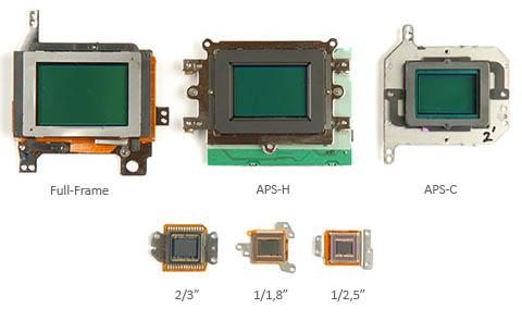 Sensores de diferentes tamaños