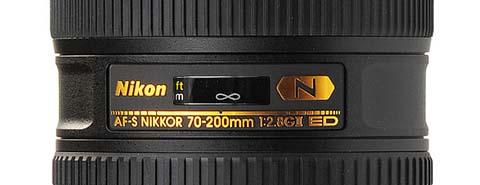 Detalle del objetivo AF-S Nikkor 70-200mm f/2.8G ED VR II