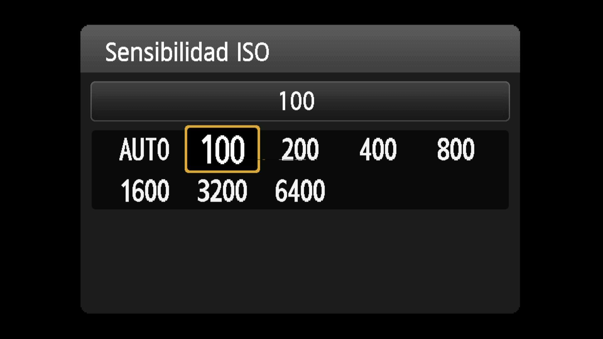 Ajuste de la sensibilidad ISO
