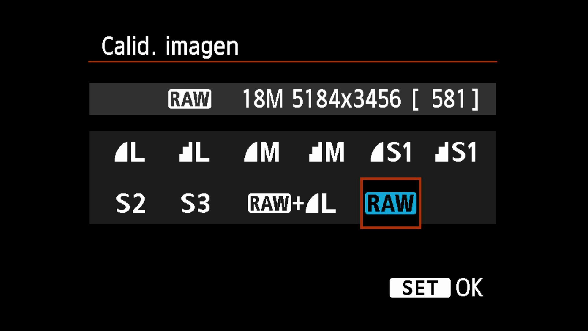 Para poder realizar el proceso de revelado digital en el ordenador, es necesario disparar en formato RAW